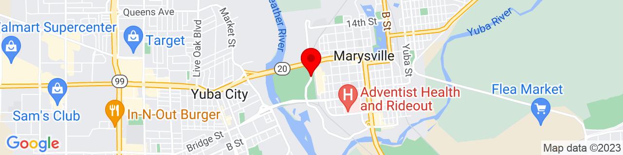 Google Map of 39.1427509, -121.6006802