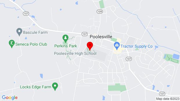 Google Map of 17501 West Willard Rd, Poolesville, MD 20837