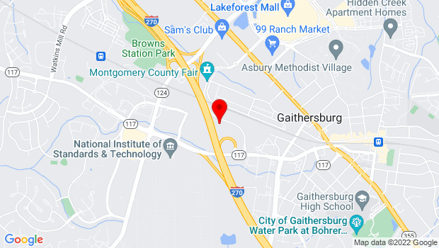 Google Map of 220 Perry Parkway, Gaithersburg, MD 20877