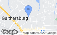Map of Gaithersburg, MD