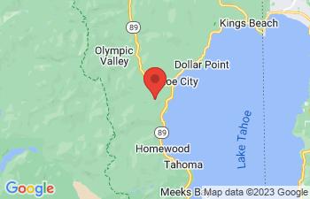 Map of Tahoe City