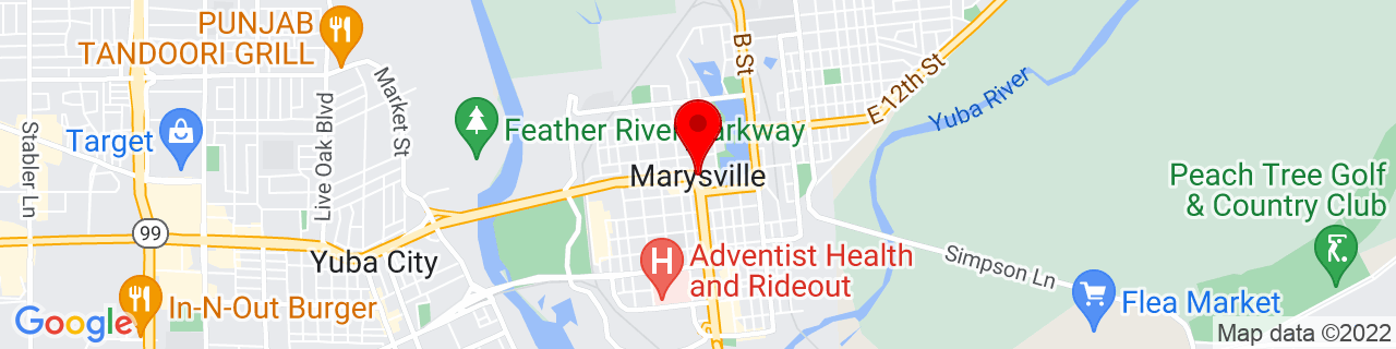 Google Map of 39.1457253, -121.5913547