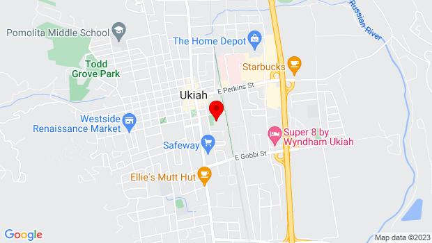 Google Map of 431 S. Main St., Ukiah, CA 95482
