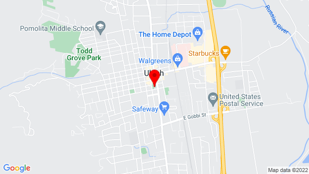Google Map of 310 South State St., Ukiah, CA 95482