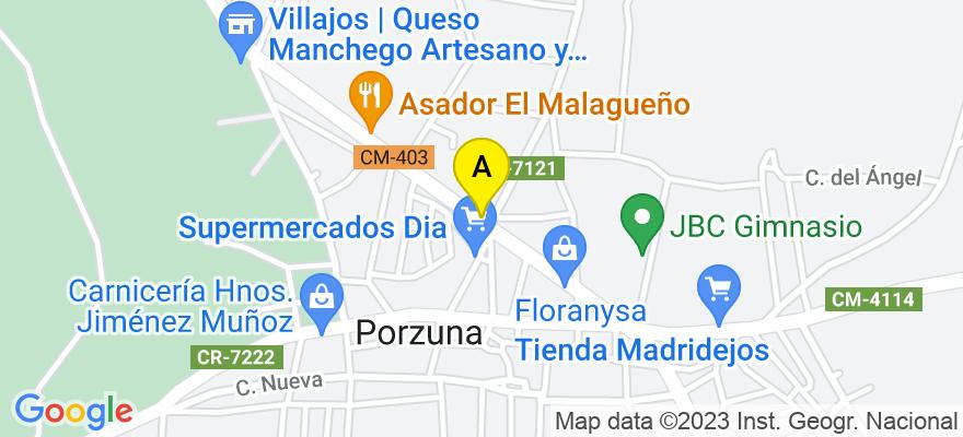 situacion en el mapa de . Direccion: TOLEDO 2 BAJO, 13120 Porzuna. Ciudad Real