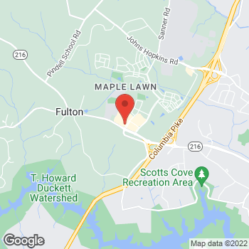 Map of Hair Cuttery at 8194 Westside Boulevard, Fulton, MD 20759