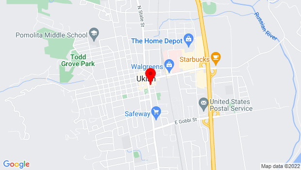 Google Map of 203 South State Street, Ukiah, CA 95482