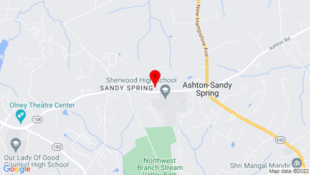 Google Map of 17901 Bentley Road, Sandy Spring, MD 20860