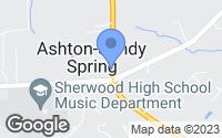 Map of Ashton-Sandy Spring, MD
