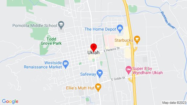 Google Map of 300 Seminary Ave., Ukiah, CA 95482