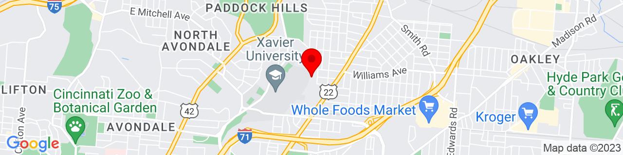Google Map of 39.1517548, -84.4676662