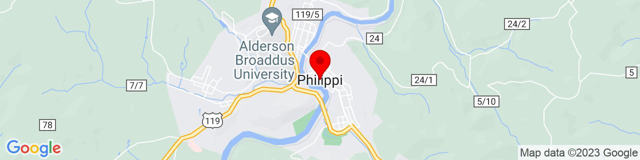 Google Map of 39.1523198, -80.0403578