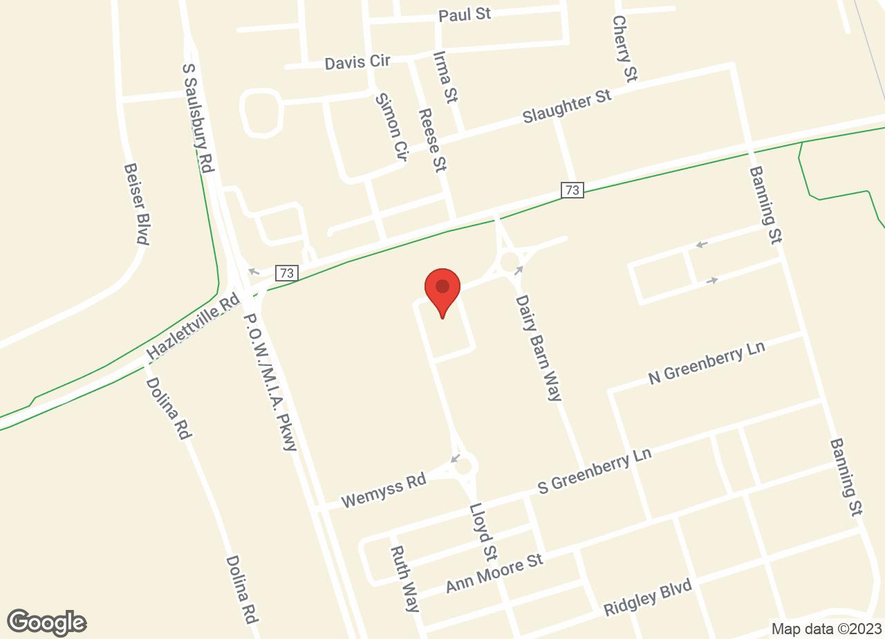 Google Map of VCA Dover Animal Hospital