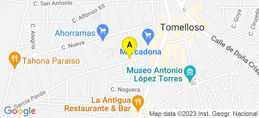 situacion en el mapa de . Direccion: Calle Fco. García Pavón, 34, 13700 Tomelloso. Ciudad Real