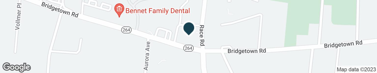 Google Map of5508 BRIDGETOWN RD
