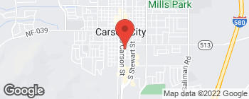 Map of 111 E Sixth St in Carson City