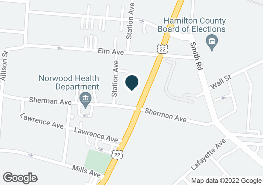 Google Map of4605 MONTGOMERY RD