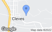 Map of Cleves, OH