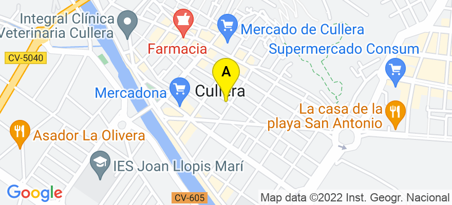 situacion en el mapa de . Direccion: / ATENEO MUSICAL Nº 40-BAJO, 46400 Cullera. Valencia