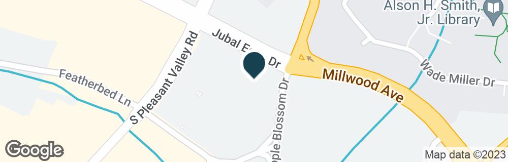 Google Map of645 E JUBAL EARLY DR