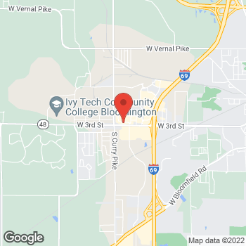 Map of Taco Bell at 3702 W 3rd St, Bloomington, IN 47404