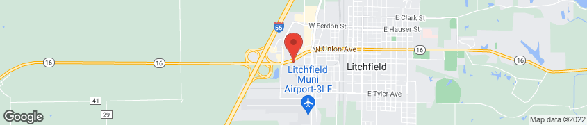 Map of 1407 W Hudson Blvd in Litchfield