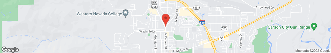 Map of 2299 N. Carson St. in Carson City