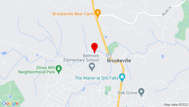 Google Map of 3610 Brookeville Road, Olney, MD 20832