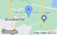 Map of Brookeville, MD