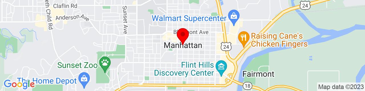 Google Map of 39.18360819999999, -96.57166939999999