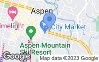 Map of Aspen, CO