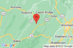 Map of Cacapon Mountains