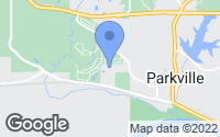 Map of Parkville, MO