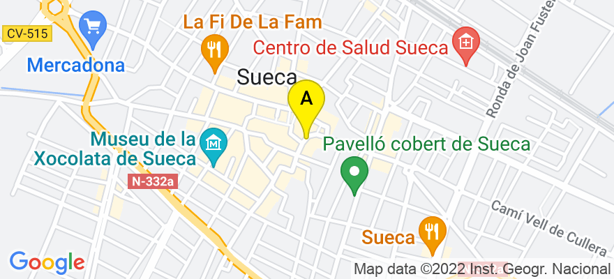 situacion en el mapa de . Direccion: Placeta de Rosanes, nº 9-4º-9ª, 46410 Sueca. Valencia