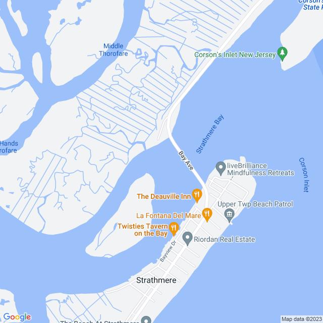 Map of Corson's Inlet Bridge