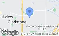 Map of Gladstone, MO
