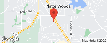 Map of 7000 NW Prairie View Rd in Kansas City
