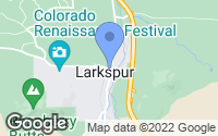 Map of Larkspur, CO