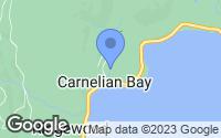 Map of Carnelian Bay, CA