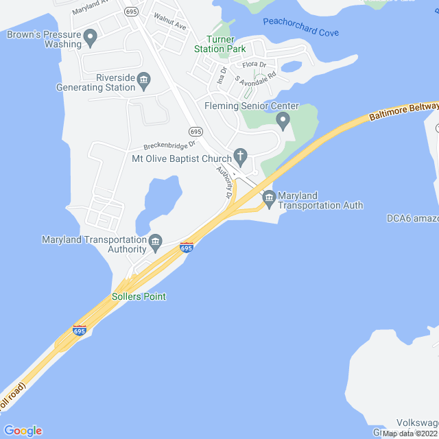 Map of Francis Scott Key (I 695) Bridge