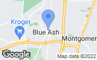 Map of Blue Ash, OH
