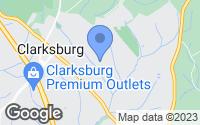 Map of Clarksburg, MD