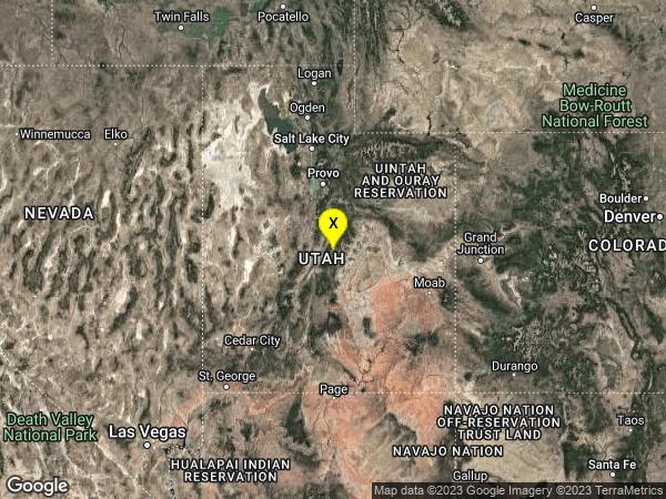 earthquake 15km ESE of Manti, Utah