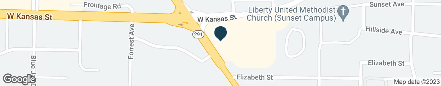 Google Map of1191 W KANSAS ST