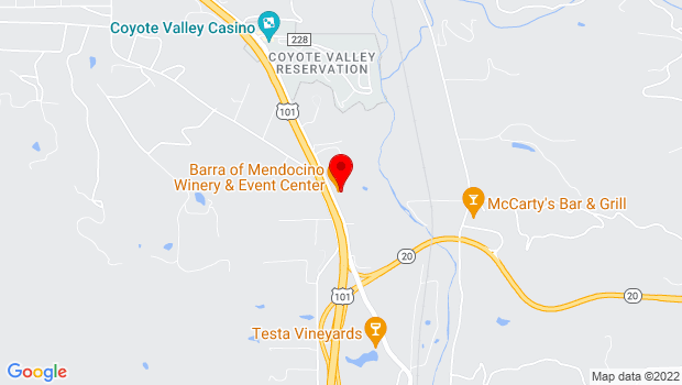 Google Map of 7051 North State Street, Redwood Valley, CA 95470