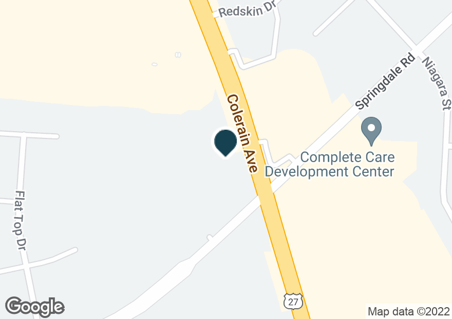 Google Map of9775 COLERAIN AVE