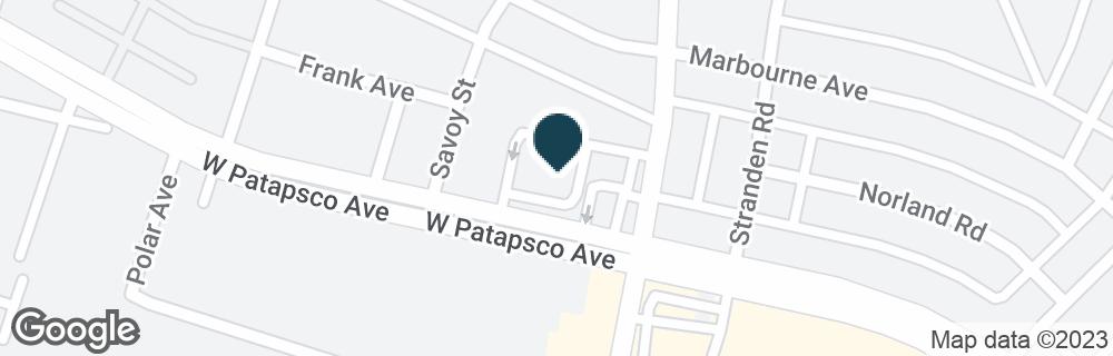 Google Map of2310 W PATAPSCO AVE