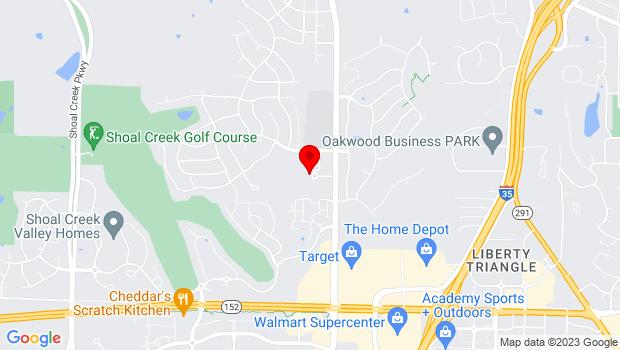 Google Map of 8900 NE Flintlock Rd, Kansas City, MO 64157
