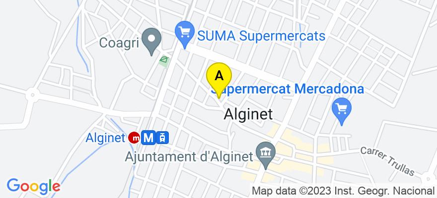 situacion en el mapa de . Direccion: Calle Empedrado 76, 46230 Alginet. Valencia