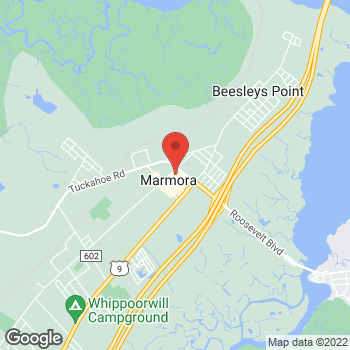 Map of Verizon Authorized Retailer – TCC at 4 Roosevelt Blvd, Marmora, NJ 08223